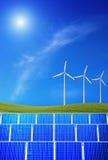 Energia rinnovabile con il sole Fotografia Stock Libera da Diritti