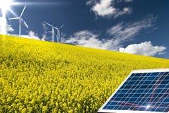 Energia rinnovabile e sviluppo sostenibile immagine stock