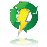 Energia riutilizzabile illustrazione vettoriale