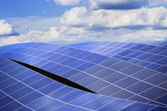 Energia słoneczna powerlpant Zdjęcie Stock