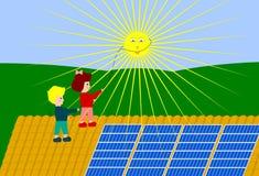 energia słońca Zdjęcia Royalty Free