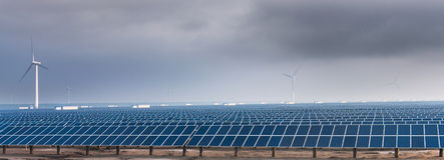 A energia solar Imagem de Stock Royalty Free