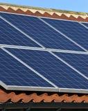 Energia solar - aquecimento doméstico Fotografia de Stock Royalty Free