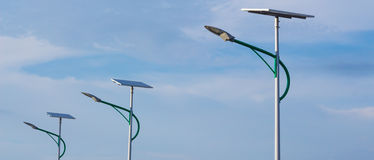 Energia solar e céu Fotos de Stock