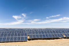 Energia solar em Gobi Imagem de Stock