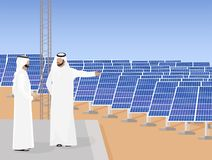 Energia solare in Arabia Saudita una fonte di energia alternativa fotografia stock