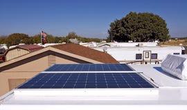 Energia solare per il vostro rv Fotografie Stock Libere da Diritti