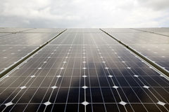 Energia solare rinnovabile Fotografia Stock
