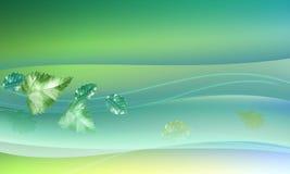 Energia verde com linhas e folhas ilustração do vetor