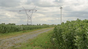 Energia verde da turbina eólica video estoque