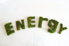 Energia verde di parola Fotografie Stock Libere da Diritti