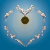Energia verde do amor Imagem de Stock Royalty Free