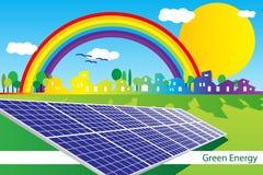 Energia verde - tampa do folheto - cartão ilustração do vetor