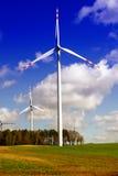 Energia verde - turbina di vento Immagini Stock Libere da Diritti