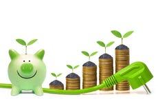 Energia viva do verde e da economia imagens de stock