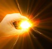 Energia w ręce Zdjęcia Royalty Free