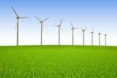 Energias eólicas Fotografia de Stock Royalty Free
