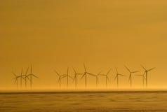 Energias eólicas Imagens de Stock Royalty Free