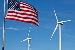 Energias eólicas americanas Imagens de Stock