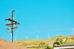 Energias eólicas de Havaí do estado de Maui Imagem de Stock Royalty Free