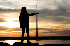 Energias eólicas de Ignnite Fotografia de Stock Royalty Free