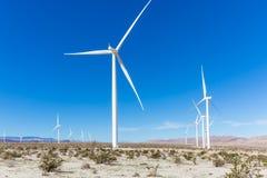 Energias eólicas do deserto Fotografia de Stock