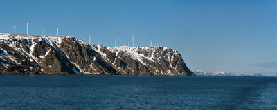 Energias eólicas em Noruega Fotos de Stock