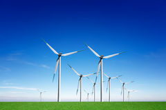 Energias eólicas globais imagem de stock royalty free