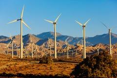 Energias eólicas, Palm Spring, Califórnia Imagem de Stock Royalty Free