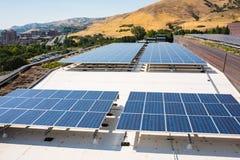 Energias solares em Salt Lake City, Utá Imagem de Stock