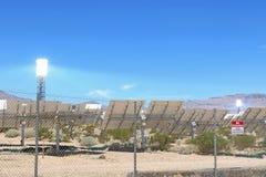 Energias solares que geram o sistema Fotografia de Stock