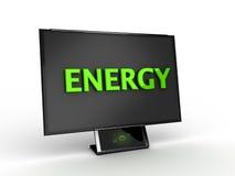 energibildskärm Fotografering för Bildbyråer