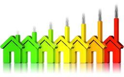 Energibruk vektor illustrationer