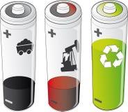 energieën - batterijen stock illustratie