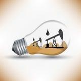 Energieöl-Mechanismusarbeit für Lampenideenvektor vektor abbildung
