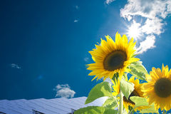 Energie. Solar energy for clean environment Royalty Free Stock Photos
