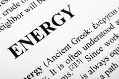Energie Royalty-vrije Stock Afbeeldingen