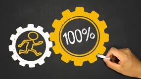 100% Energie Lizenzfreies Stockbild