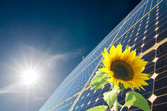 Energie. Solar energy for clean environment Royalty Free Stock Photo