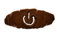 'Energie auf weg von' Symbol vom Kaffee Lizenzfreies Stockfoto