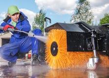 Energie-Bürsten-Reinigung lizenzfreies stockbild
