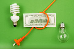 Energie - besparingen Royalty-vrije Stock Afbeelding