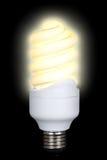 Energie - besparings fluorescente lamp Stock Afbeeldingen