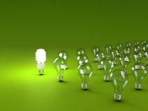 Energie - besparings gloeilamp Royalty-vrije Stock Fotografie