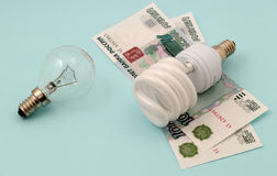 Energie - besparingslamp Stock Afbeelding