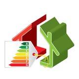 Energie - besparingspictogram Royalty-vrije Stock Afbeelding