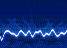 Energie bewegt Hintergrund wellenartig Lizenzfreies Stockfoto