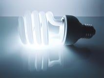 Energie - de bol van het besparingsneonlicht Stock Afbeeldingen