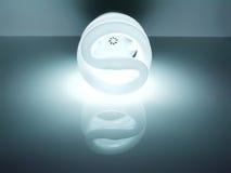 Energie - de bol van het besparingsneonlicht Stock Afbeelding
