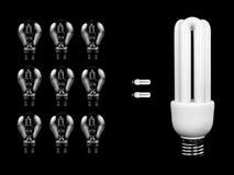 Energie - de Gloeilamp van de besparing Royalty-vrije Stock Afbeelding